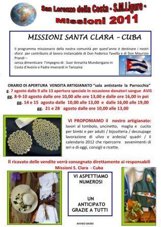 10 agosto, Santa Margherita Ligure: festa di San Lorenzo sulla Costa con gastronomia, balli e dal 7 mercatino prodotti artigianali pro Missioni