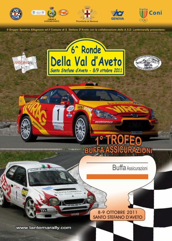 """sabato 8 e domenica 9 ottobre, Santo Stefano d'Aveto -quinto rally """"Ronde della Val d'Aveto"""
