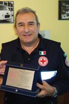 Cinghialata di Beneficenza - Mauro Piffero con la targa 'Personaggio ProLoco dell'anno'.