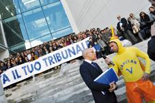 La battaglia per il Tribunale di Chiavari a Striscia la Notizia