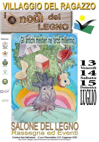"""13-14-15 luglio: """"I Nodi del Legno"""", più di 60 realtà del mondo del legno dell'Italia e del Tigullio per tre giorni in mostra e a confronto"""