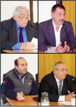 Sergio Redaelli Presidente Appennino&Democrazia,  Giovanni Rizzi Geologo, Mario Cardinale Referente Pesca per il Levante, Corrado Cicciarelli Adiconsum