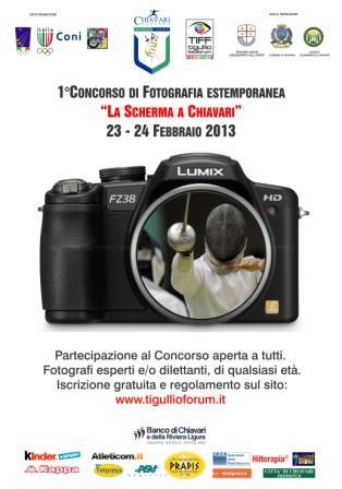 """23 e 24 febbraio, Chiavari: 1° Concorso di fotografia estemporanea """"La scherma a Chiavari"""""""