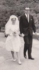 Luigi Bacigalupo e Maria Grazia Bernardini il giorno del matrimonio