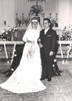 Rosa De Palo e Lino Marotta il giorno del matrimonio