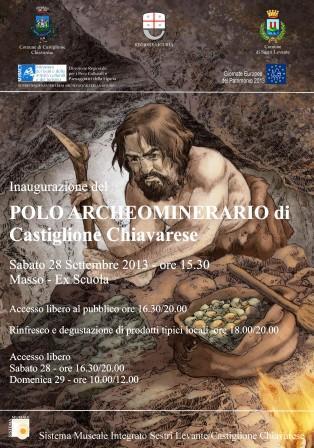 Sabato 28 settembre, Castiglione Chiavarese: Inaugurazione del Polo Archeominerario