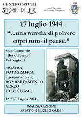 """""""17 luglio 1944: una nuvola di polvere coprì tutto il paese..."""": una mostra fotografica racconta il bombardamento di Bogliasco"""