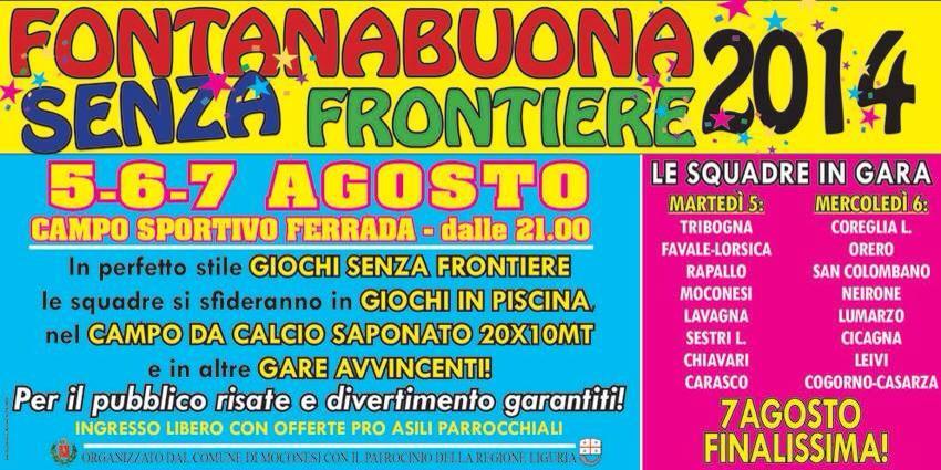 5,6,7 agosto, Ferrada di Moconesi: tutti i comuni in gara per gli avvincenti e divertenti giochi di FONTANABUONA SENZA FRONTIERE