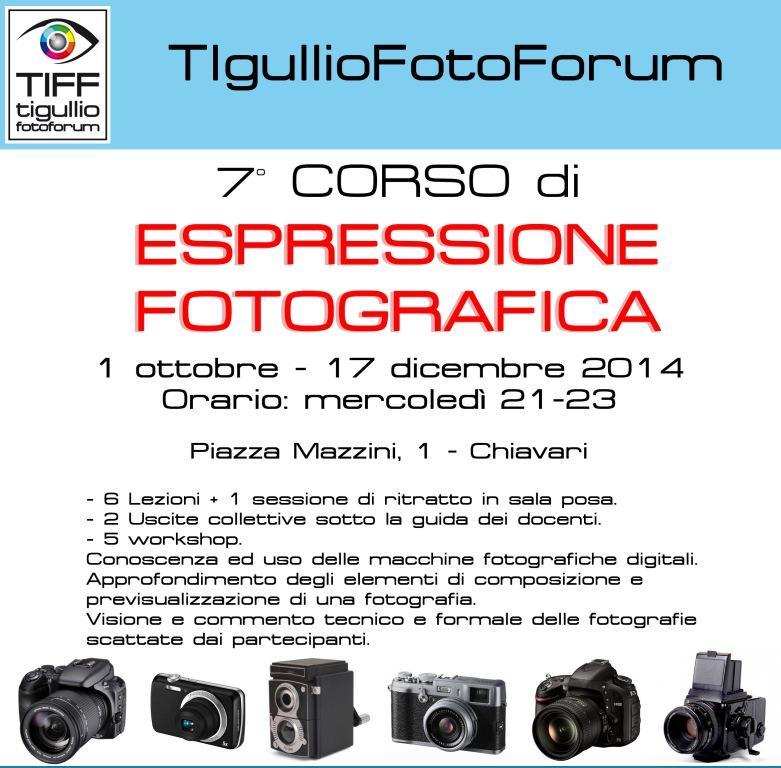 1° ottobre, Chiavari: vuoi imparare a fotografare? Inizia la 7^ edizione del corso di ESPRESSIONE FOTOGRAFICA