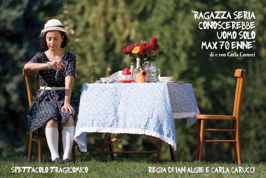 """Venerdì 21 novembre: per il Festival dell'Eccellenza al Femminile, al Teatro di Cicagna va in scena """"Ragazza seria conoscerebbe uomo solo max 70enne"""""""