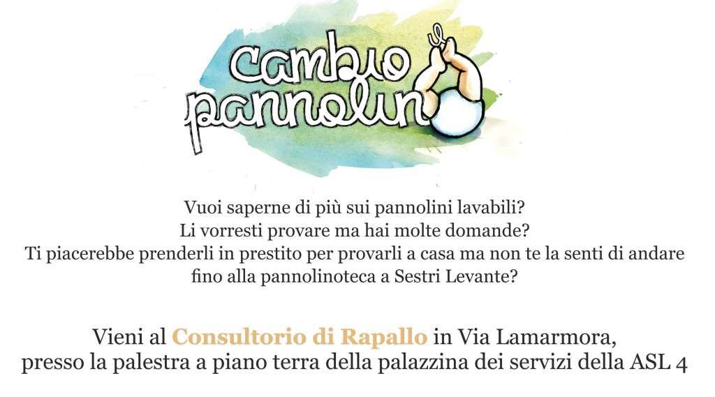 """La vita ecosostenibile inizia da neonati. Il progetto """"Cambio il pannolino"""" va in trasferta a Rapallo"""