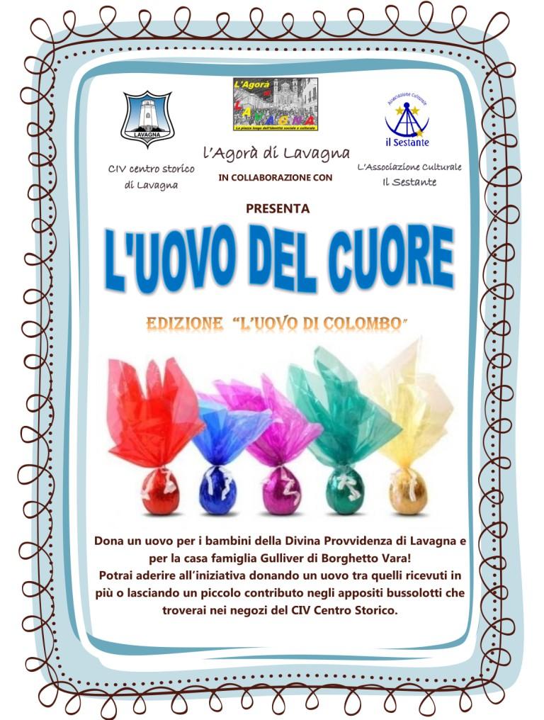 """""""L'UOVO DEL CUORE"""", l'iniziativa de L'Agorà di Lavagna per portare l'uovo di Pasqua a bambini e ragazzi disagiati"""