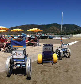 Sestri : un'altra spiaggia accessibile ai disabili