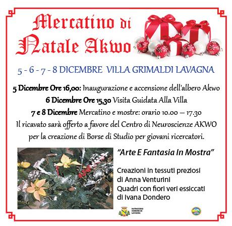 Dal 5 all'8 dicembre: a Lavagna il Natale a favore della scienza, mercatino e mostre pro istituto di neuroscienze