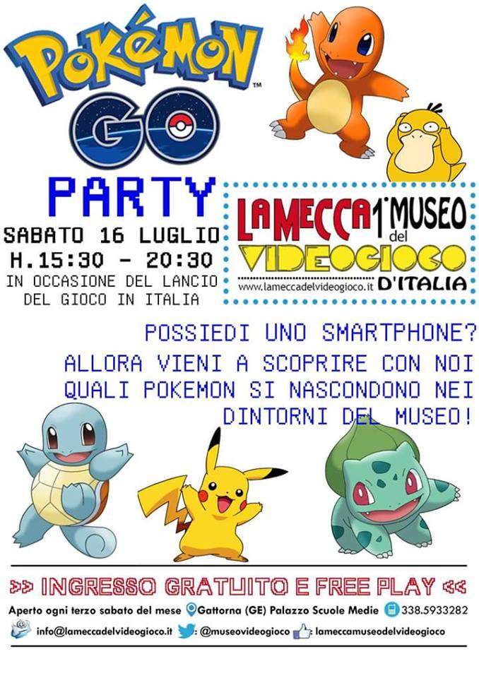 Pokémon Go sbarca in Italia! Domani tutti al Museo del Videogioco di Gattorna, in cerca dei mostriciattoli più famosi del mondo! Più restrospettiva Game Boy
