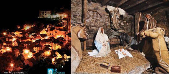 Presepe di Pentema: il borgo incantato che si trasforma in presepe a grandezza naturale. Da oltre 20 anni tra gli appuntamenti natalizi più importanti in Liguria