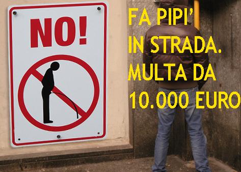 """PIPI' DA 10.000 EURO - Multa salata per chi urina in strada: già tre casi a Genova - Intanto ad Amburgo una vernice speciale """"segna"""" i maleducati"""