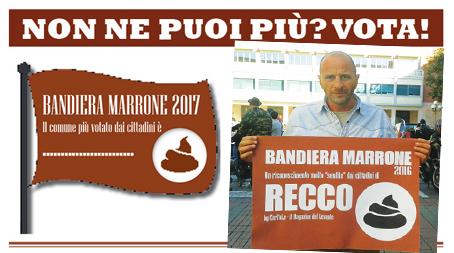 Torna la Bandiera Marrone: vota il comune più impestato del Levante- Sul podio 2016 Recco, Rapallo e Chiavari