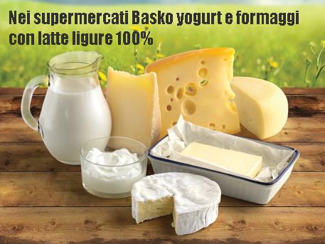 """""""La Liguria fa buon latte"""": in arrivo nei supermercati Basko yogurt e formaggi al 100% delle nostre valli"""