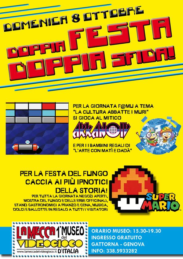Domenica 8 ottobre al Museo del Videogioco è festa doppia: tante iniziative per la Giornata delle Famiglie al museo e la Festa del fungo