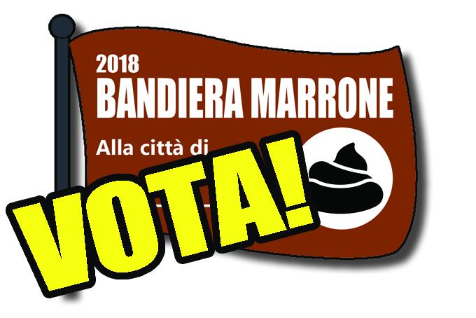 DEIEZIONI CANINE - Torna la Bandiera Marrone: votate per dare un segnale a padroni maleducati e amministratori