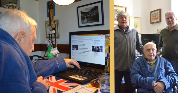 """Costantino, 101 anni, e una nuova vita grazie al computer: """"mi sento con i nipoti all'estero, ricevo le mail e posso scoprire tutte le novità sulla costruzione di motori"""""""