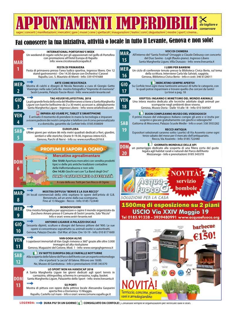 CALENDARIO EVENTI MAGGIO: sagre, mercatini, concerti, spettacoli, teatro, mostre, corsi, ristoranti e molto altro