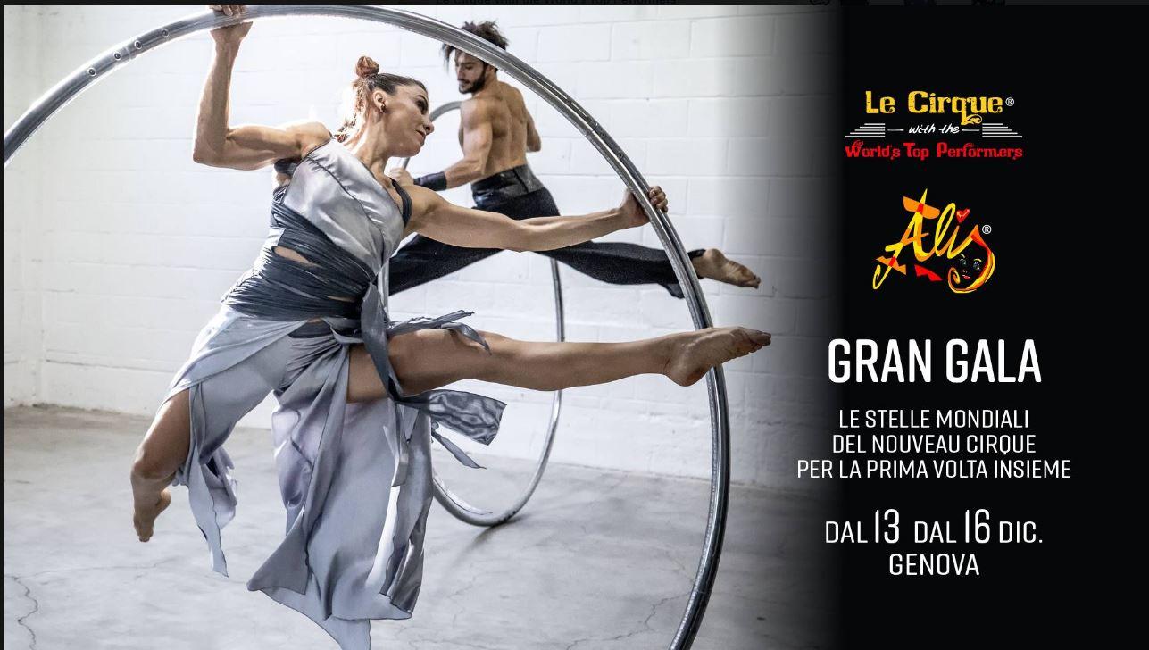 UNO SHOW MAI VISTO PRIMA: dal 13 al 16 dicembre arrivano a Genova le stelle mondiali del Nouveau Cirque e dal Cirque du Soleil