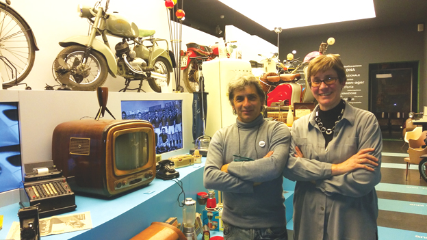 Un viaggio nel tempo al Museo del passatempo: le prime Tv, i personaggi del Carosello, la Vespa venuta dalla Russia, la bici di Bartali