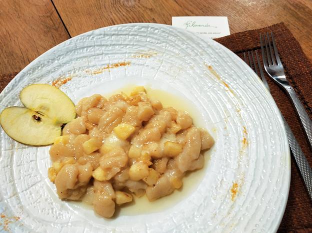 #LARICETTA - Gnocchi di patate rosse con concassé di mele e fonduta (più i consigli dello chef)