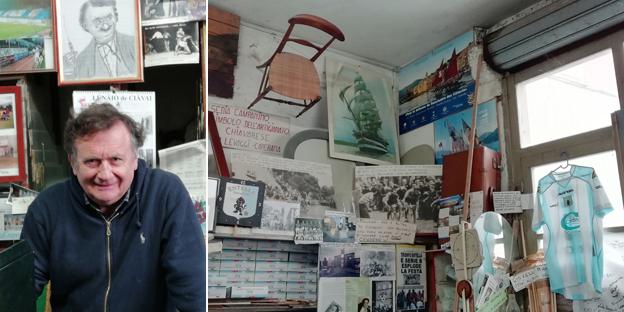 Franco il vetraio e la sua folle bottega: un po' negozio, un po' laboratorio, museo di storia locale e vero tempio dell'Entella
